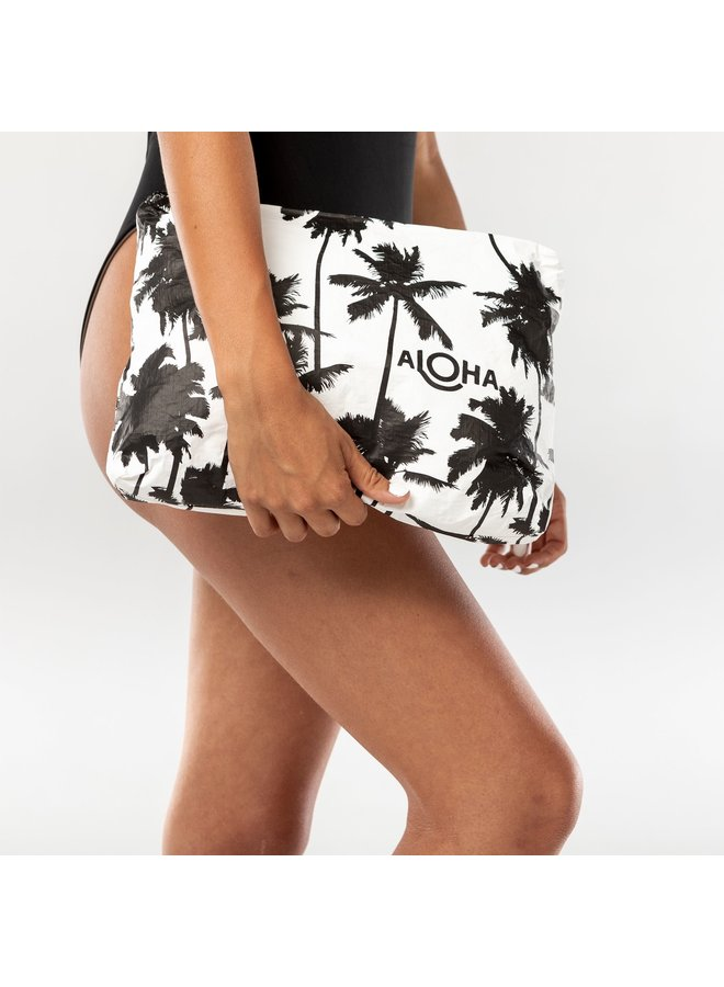 ALOHA COLLECTION MID COCO PALMS BLACK ON WHITE