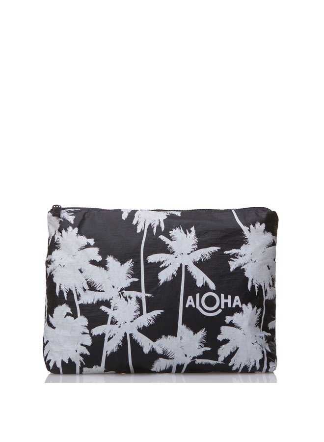 ALOHA COLLECTION MID COCO PALMS WHITE ON BLACK