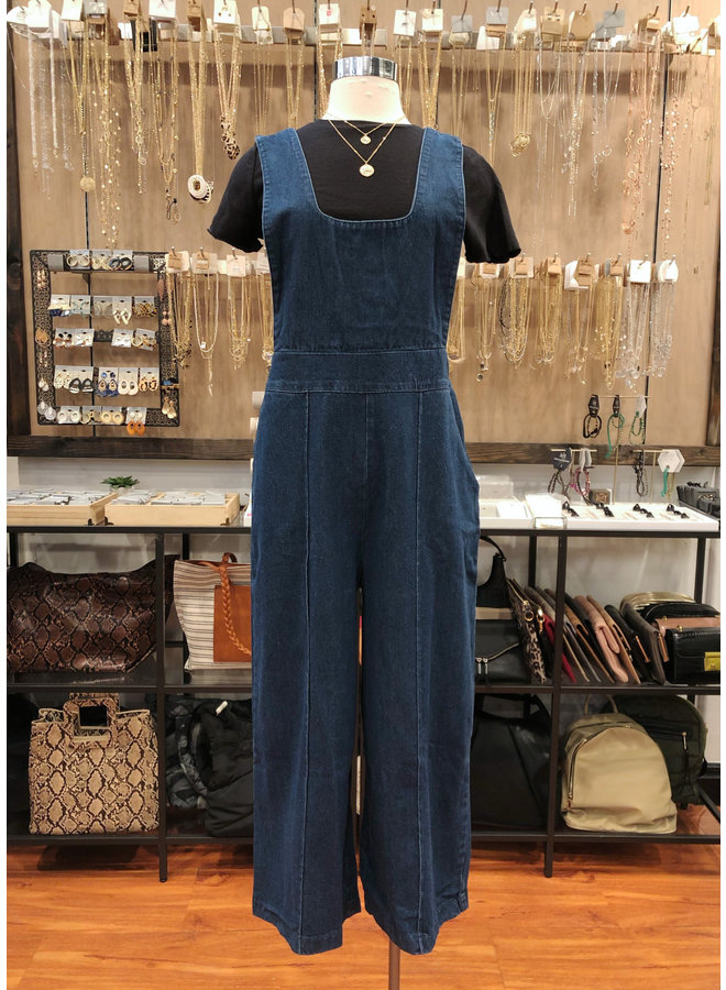 ST184-S DENIM BOYS OVERALL JUMPSUIT
