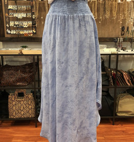 CLOUD PRINT SMOCKED MAXI SKIRT