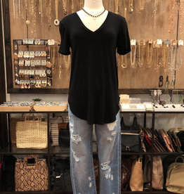 JERSEY V-NECK TAILORED TOP
