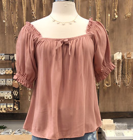 SOLID BABY DOLL TOP
