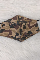 ADULT FACE MASK CAMO BROWN
