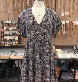 DIZZY FLORAL TIERED DRESS