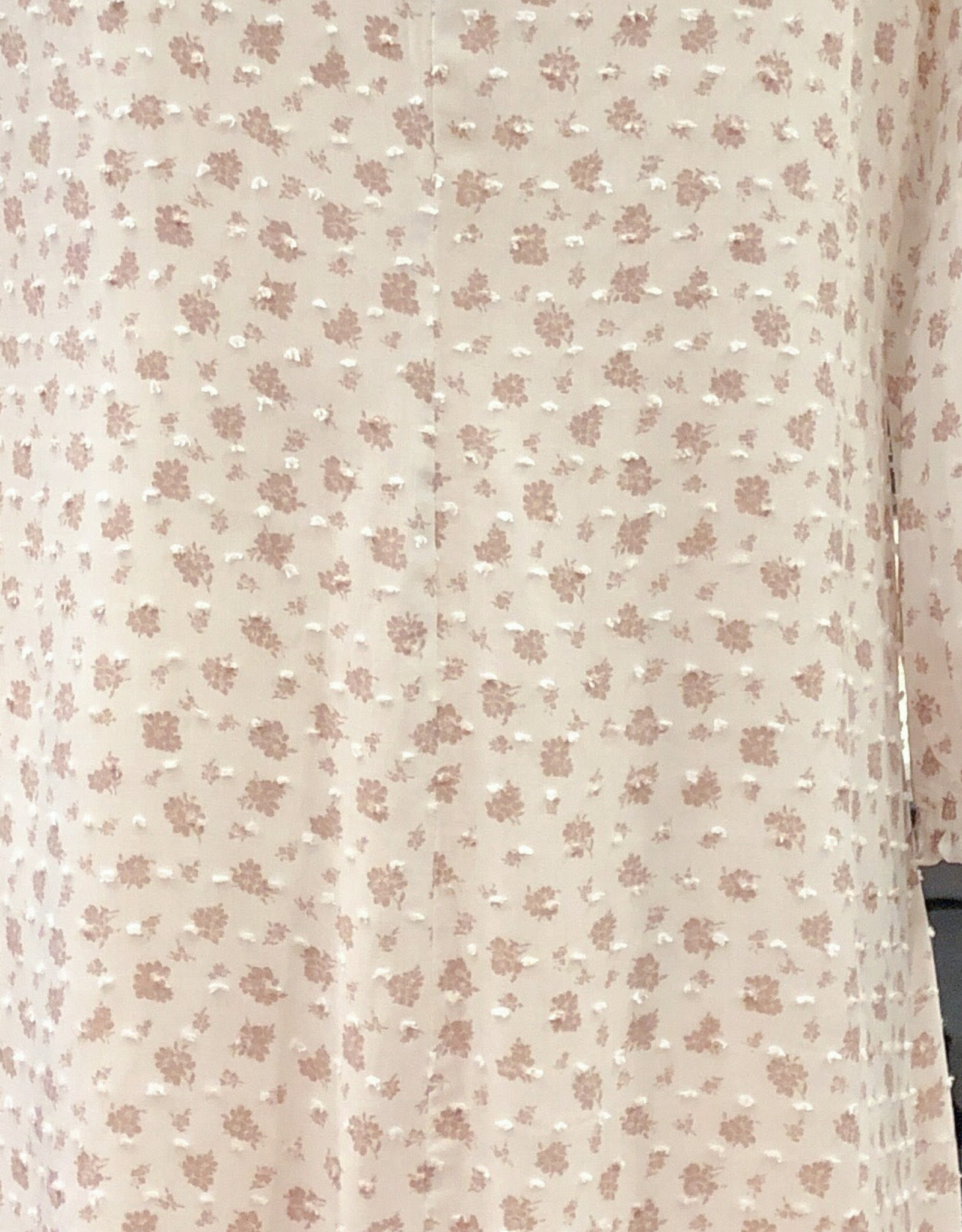 FD4092 FLORAL SWISS DOT DRESS