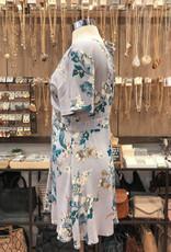 ID7766 FLORAL V-NECK DRESS