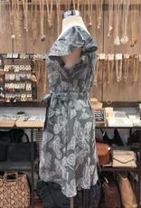 ID30252 DOODLE FLORAL BELTED DRESS
