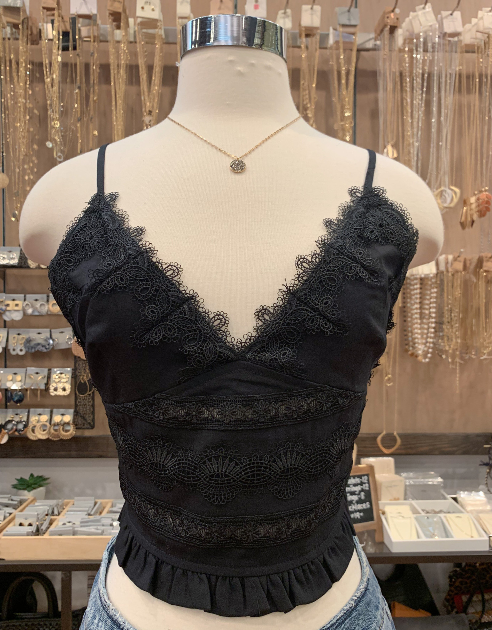 FT3713 PLEAT AND LACE BRAMI