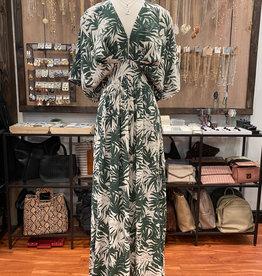 ISLAND PLUNGING V-NECK DRESS