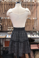 FS4169 DITSY FLORAL TIERED MINI SKIRT