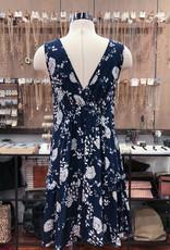 D8955-1F FLORAL PRINT FULL DRESS