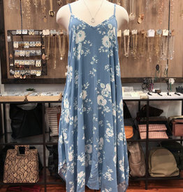 FLORAL HANDKERCHIEF CAMI DRESS