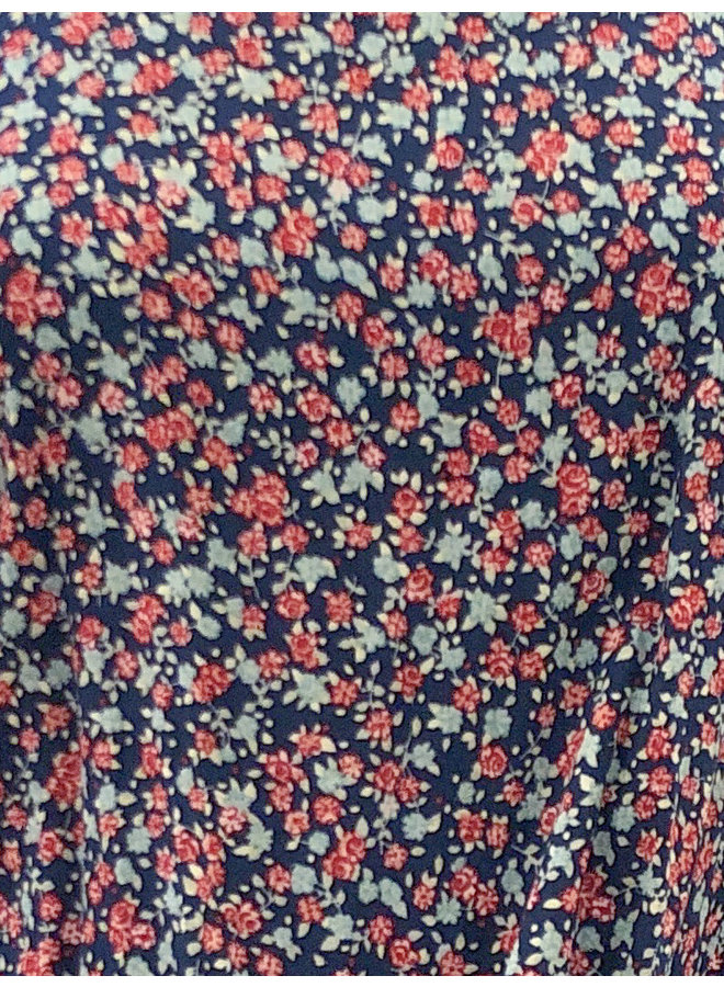 T16347I DITSY FLORAL FRONT TIE TOP