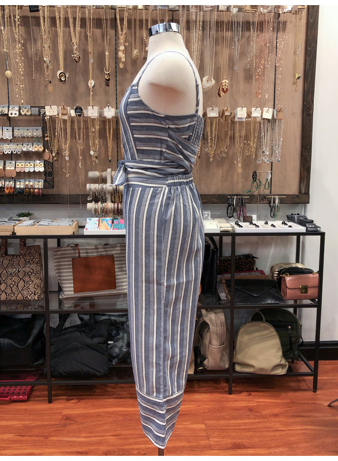 FT2818 STRIPED TOP & CULOTTES SET