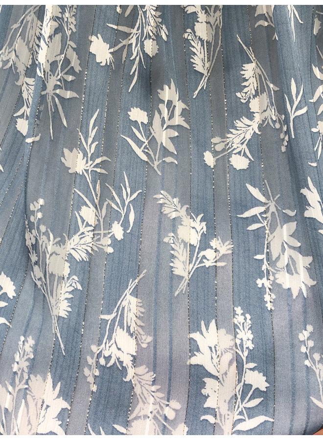 D6425 SUNDAY BLUES TIERED MAXI DRESS