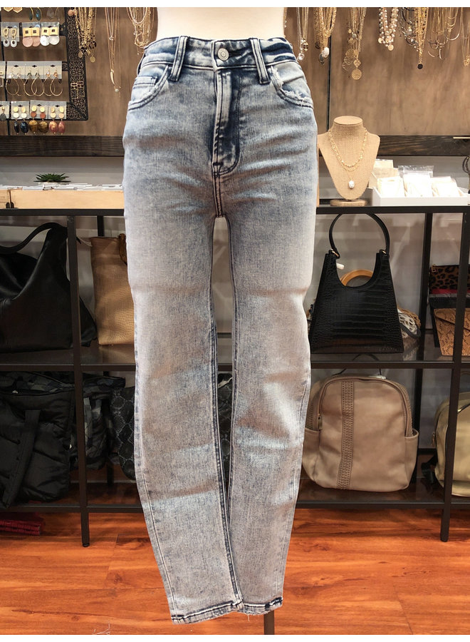 HIGH RISE ACID WASH CROP SKINNY