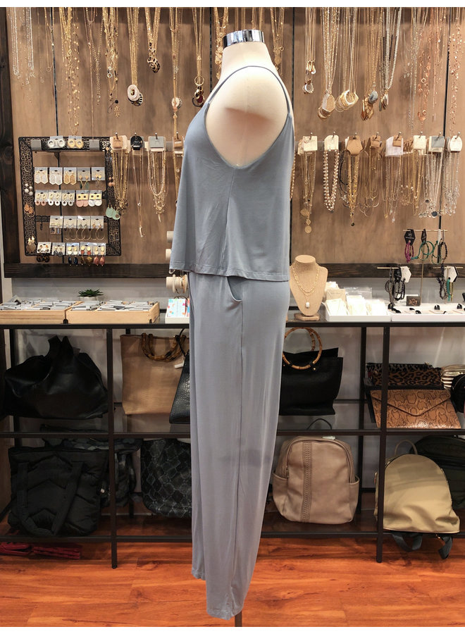 JU16744 DOUBLE LAYERED JUMPSUIT