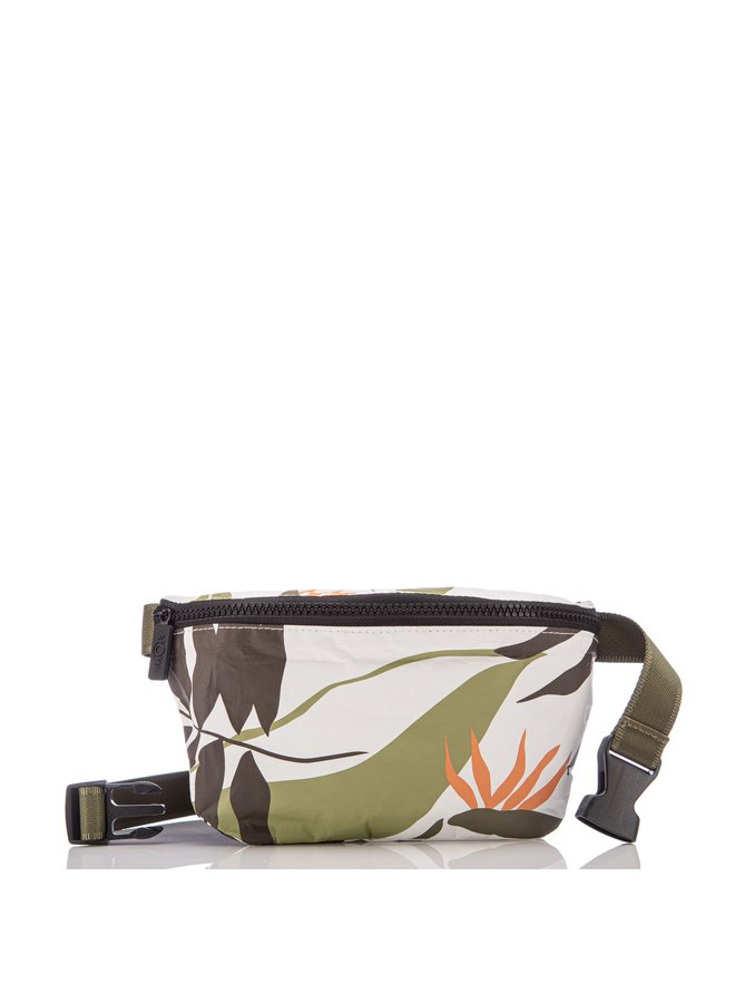 ALOHA COLLECTION HIP PACK PAINTED BIRDS NEUTRALS