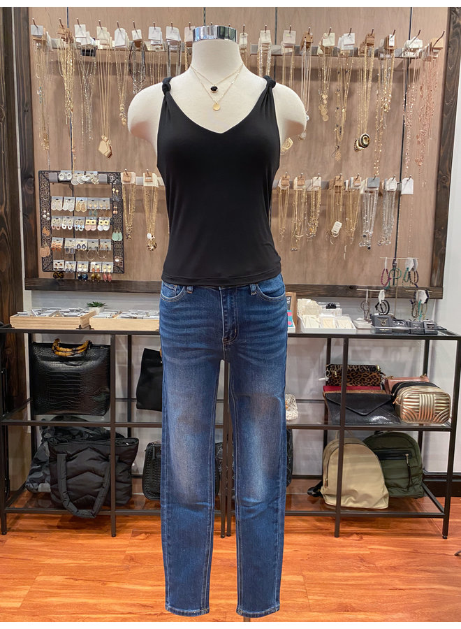 T17300 DOUBLE LAYERED KNOTTED STRAP TANK