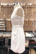 DE22246HL STRAPLESS BUTTON DRESS