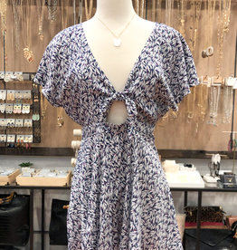 KNOTTED FRONT ROMPER