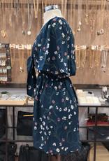 D6241 FLORAL TIE FRONT DRESS