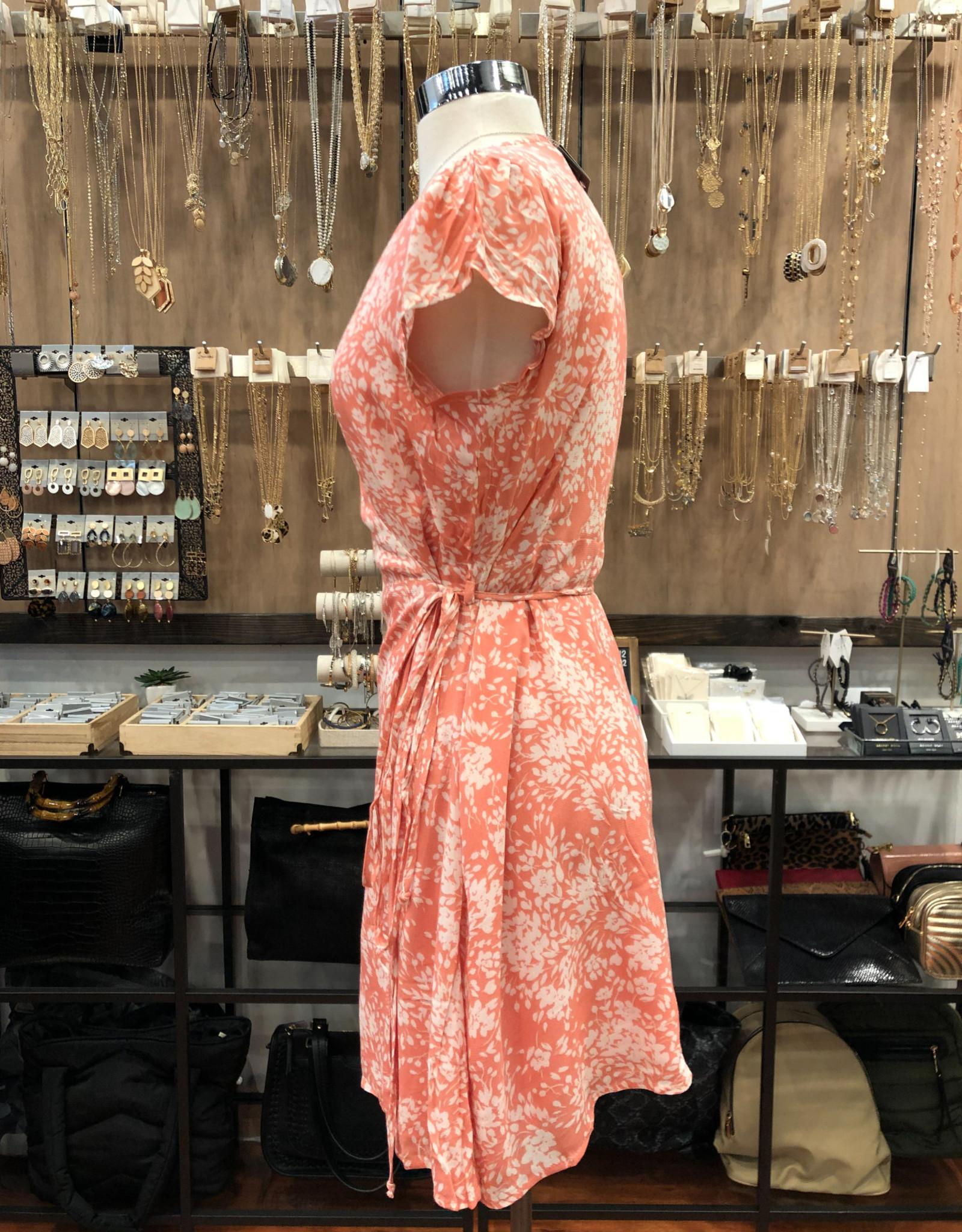 YD062I SUMMER SKIES WRAP DRESS