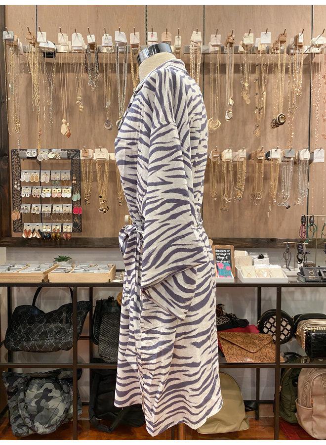 25-370LDH ZEBRA SHIRT DRESS