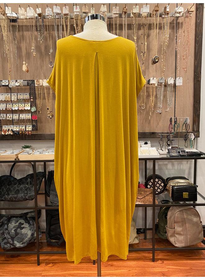 D60389 MODAL TEE DRESS