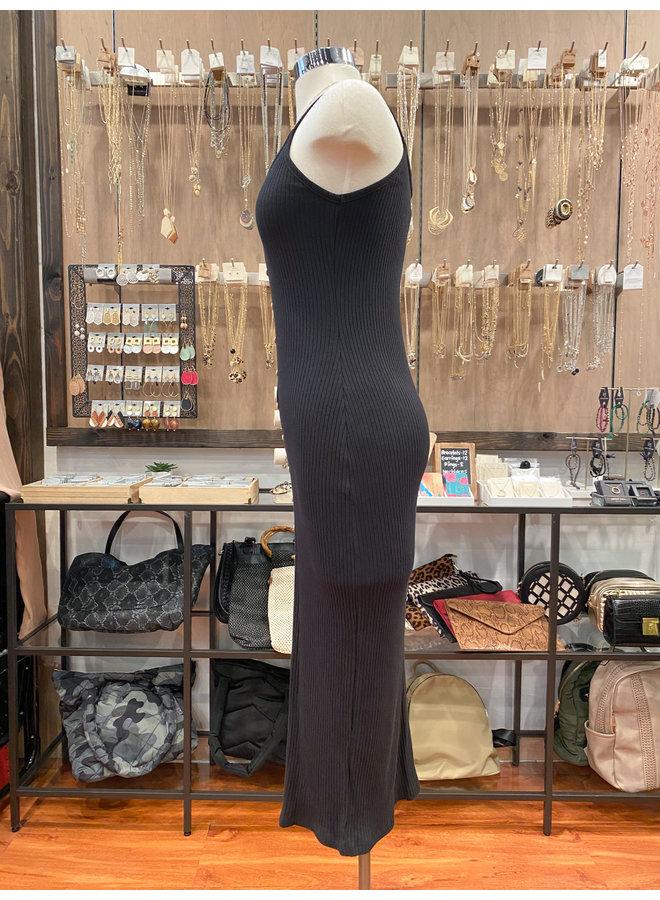 D17192D RIBBED BODYCON DRESS