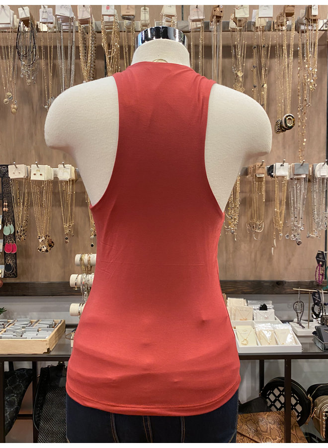 T14888 DOUBLE LAYER TANK TOP