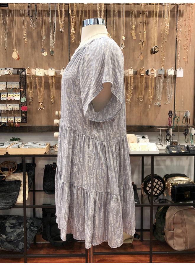 RAINDROPS TIERED DRESS