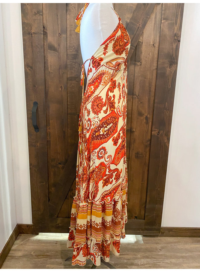 FD3752 PAISLEY MAXI DRESS