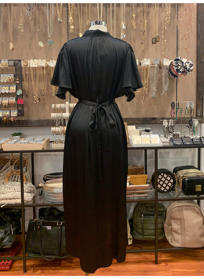 IM5435 SHORT SLEEVE MAXI DRESS