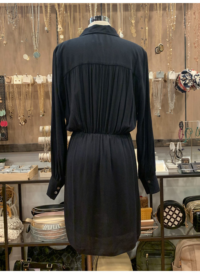 69-288LDH WAIST TIE SHIRT DRESS