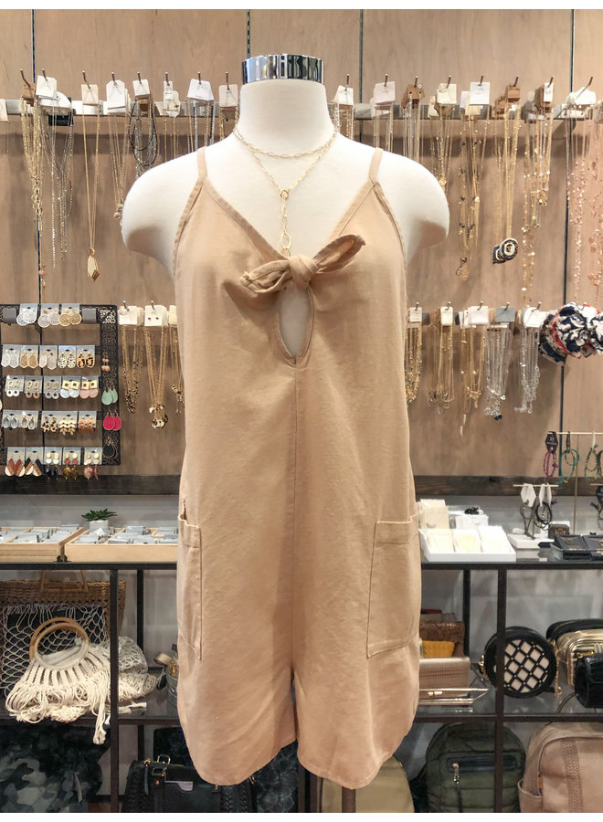 BOW TIE CAMI ROMPER  *2 colors available*