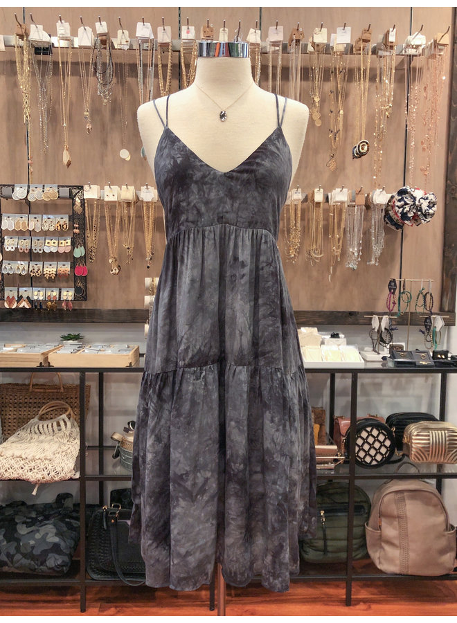 TIE DYE TIERED CAMI DRESS  *4 colors available*