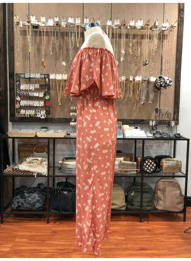 PH2530E SWEET FLORAL OVERLAY JUMPSUIT