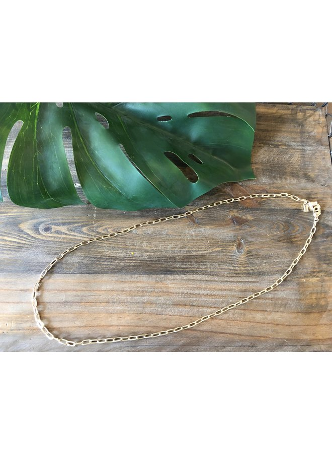 MASK CHAIN LONG- SMALL GOLD LINK