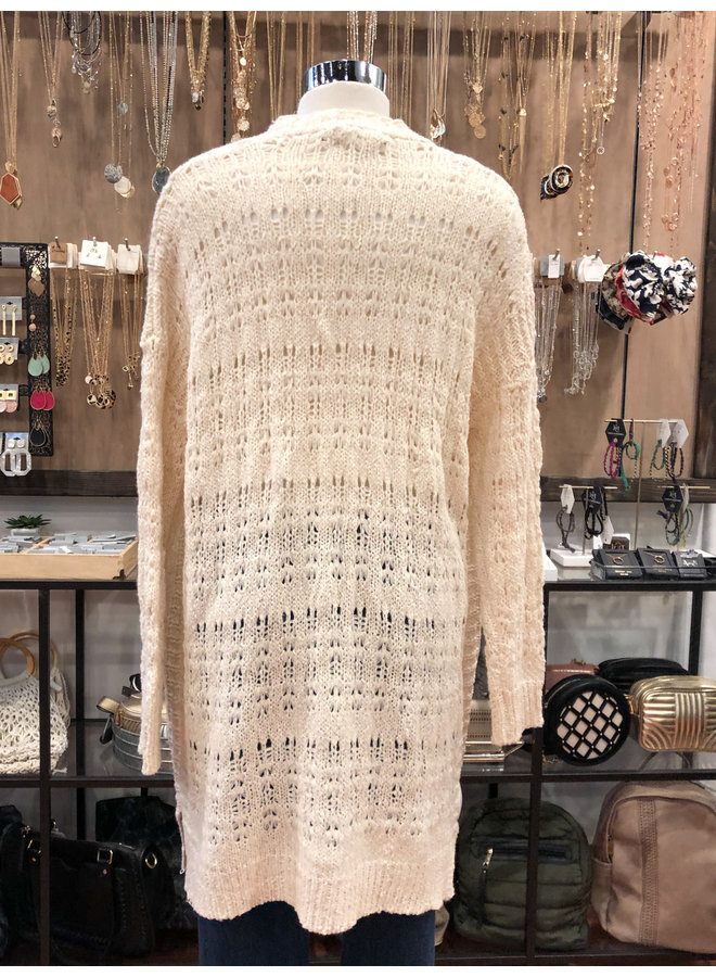 ST899-R WOVEN CARDIGAN