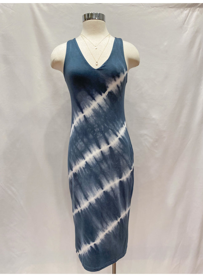 TIE DYE FITTED TANK DRESS *2 colors available*