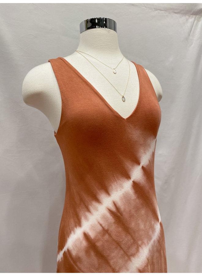 D16003H1 TIE DYE FITTED TANK DRESS
