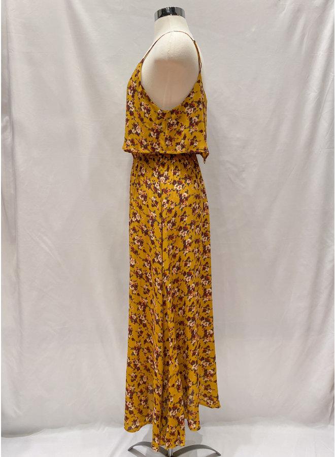 D5855 FLOWER OVERLAY MAXI DRESS