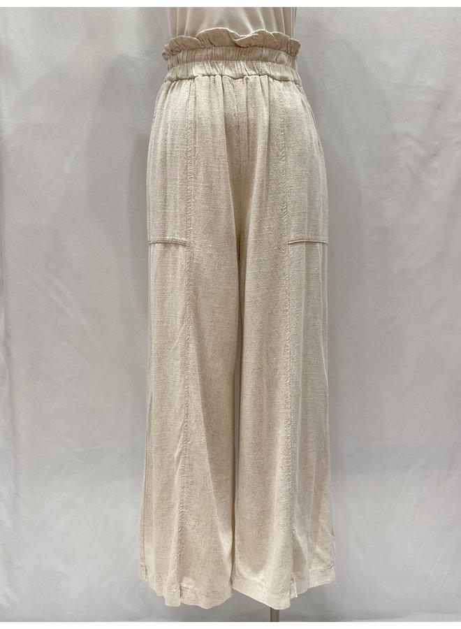 P17406 HEAVY LINEN PULL-ON PANTS