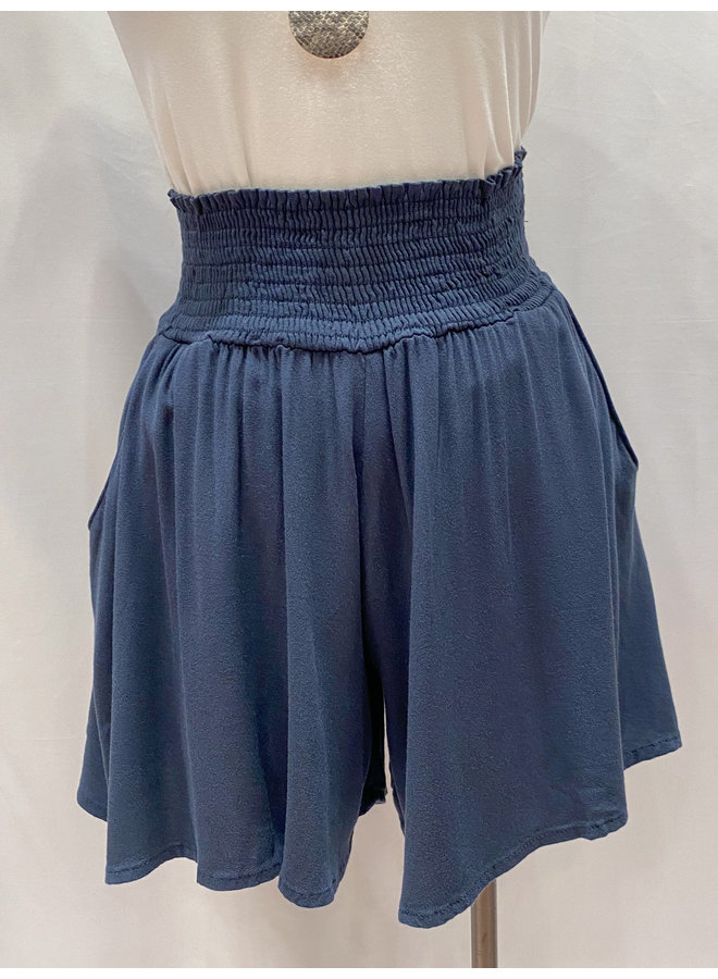 P16251C GEORGETTE FLOWY PULL ON SHORTS