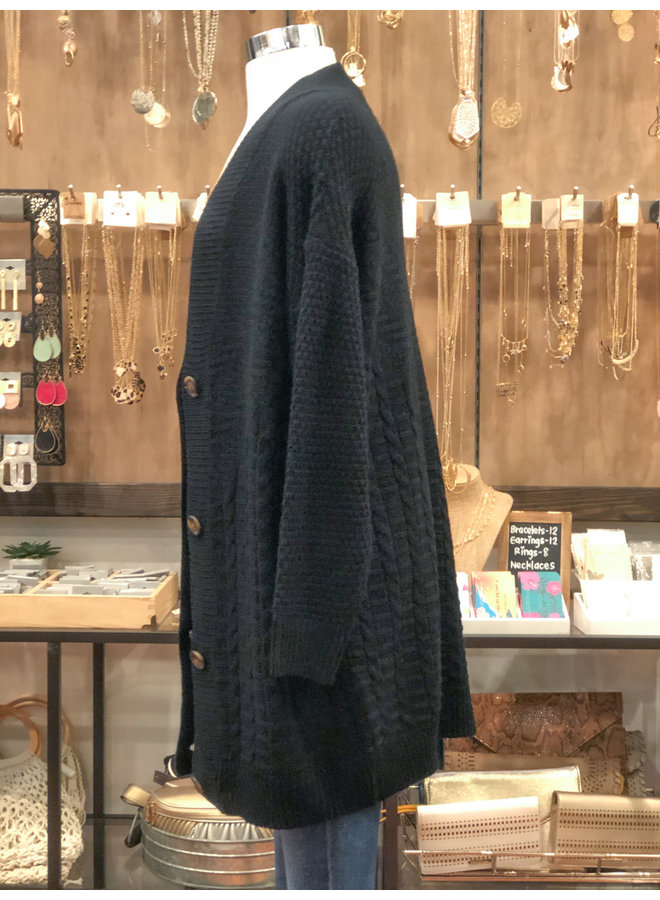 C10181 CABLE CARDIGAN WITH BUTTONS