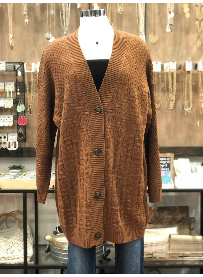 CABLE CARDIGAN WITH BUTTONS