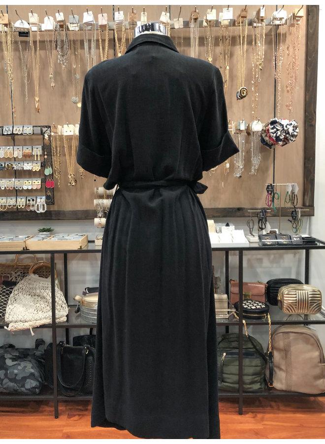 79-26LDH BELTED MIDI SHIRT DRESS