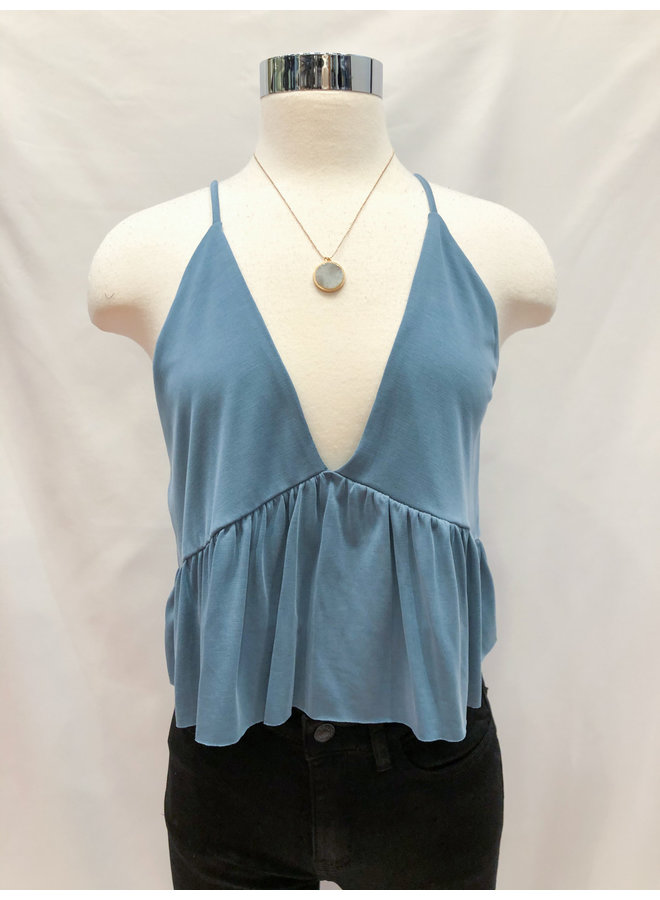 CUPRO KNIT BABYDOLL CAMI TOP *3 colors available*