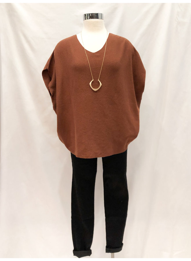 40404 ROUND KNIT SHELL TOP